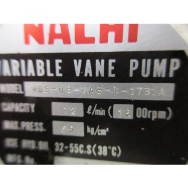 FUJI NACHI OIL MOTOR MLA2097J PUMP USV-0A-A3-15-4-1740A VDS-0B-1A3-D-1731A #12 image