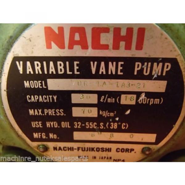 NACHI Variable Vane Pump VDR-1A-1A3-21 _ VDR1A1A321 _ 30l/min #4 image