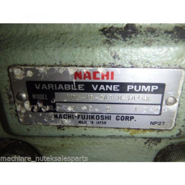 Nachi Variable Vane Pump VDC-1B-2A3-U-1048K_VDC1B2A3U1048K AS-IS #6 image