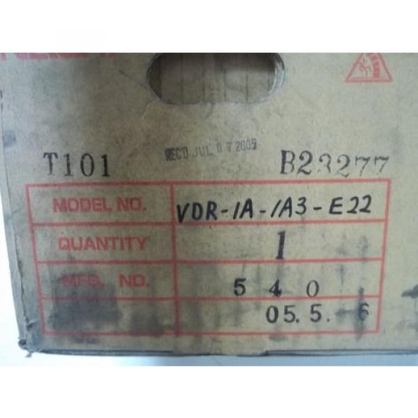 NACHI-FUJIKOSHI CORP VDR-1A-1A3-E22 VARIABLE VANE PUMP Origin IN BOX #7 image