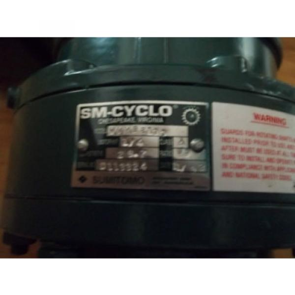 SUMITOMO SM-CYCLO 3 PHASE AC INDUCTION GEAR MOTOR with BRAKE WVM93100   RPM = 30 #3 image