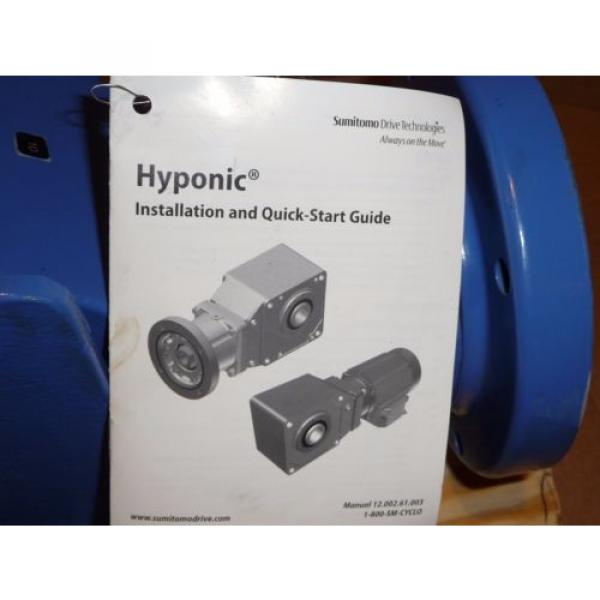 Sumitomo SM-Hyponic Right Angle Gear Speed Reducer, RNHX-1420RY-J1-10, 10:1 origin #7 image