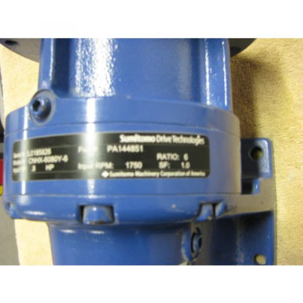 SUMITOMO SM-CYCLO DRIVE TECHNOLOGIES GEAR SPEED REDUCER RATIO 6:1 INPUT HP 8 #4 image