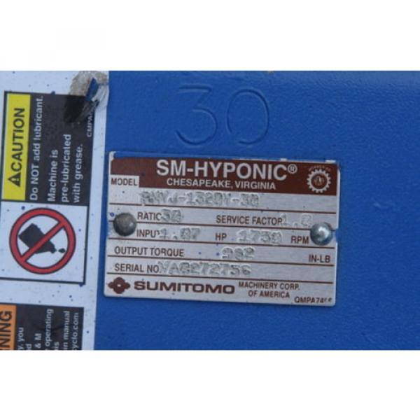 SUMITOMO RNYJ-1320Y-30 HYPONIC 5/8X1-1/4IN 107HP 30:1 GEAR REDUCER B243456 #2 image