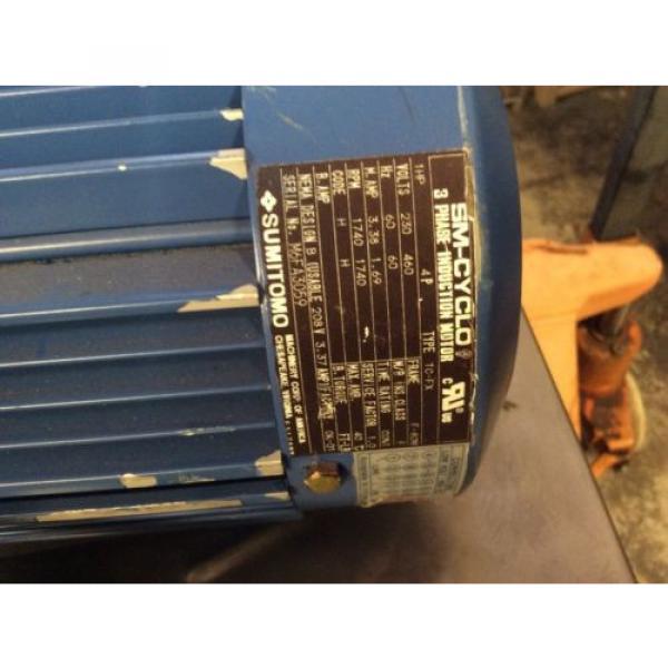 SUMITOMO DRIVE HYPONIC GEAR MOTOR RNYM113201YYAJ120 Origin NOS $799 #4 image