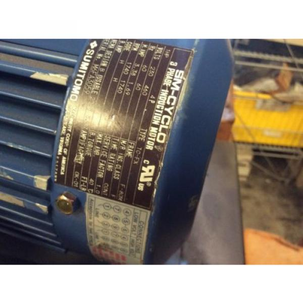 SUMITOMO DRIVE HYPONIC GEAR MOTOR RNYM113201YYAJ120 Origin NOS $799 #6 image