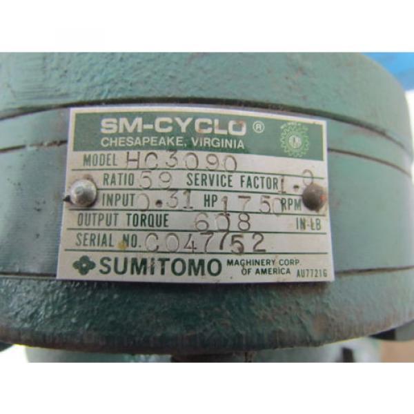 Sumitomo HC3090 59:1 31 HP 296 RPM Inline Planetary Speed Reducer Gear Box Origin #9 image