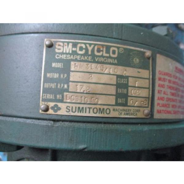 Sumitomo SM-Cyclo Motor amp; Gear TC-F/HM3145/10A 2HP 230/460V 61/30A Used #2 image