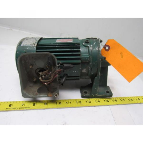 Sumitomo SM-Cyclo CNHM024075YA21 1/4HP Gear Motor 21:1 Ratio 208-230/460V 3Ph #3 image