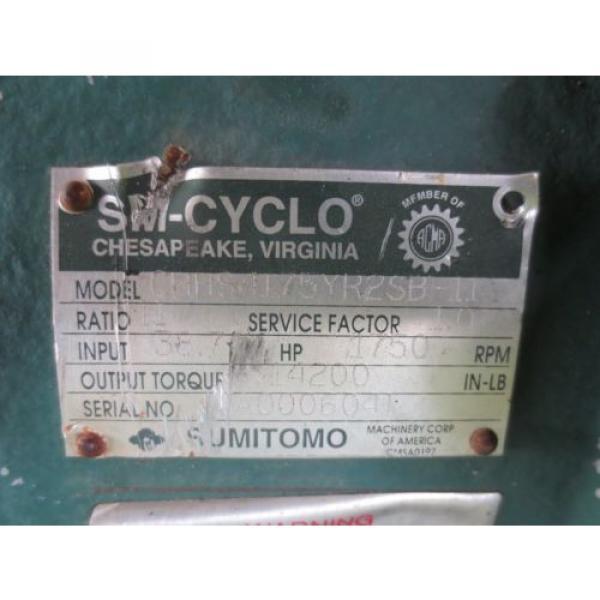 Sumitomo SM-Cyclo CHHS4175YR2SB-11 Speed Gear Reducer #5 image