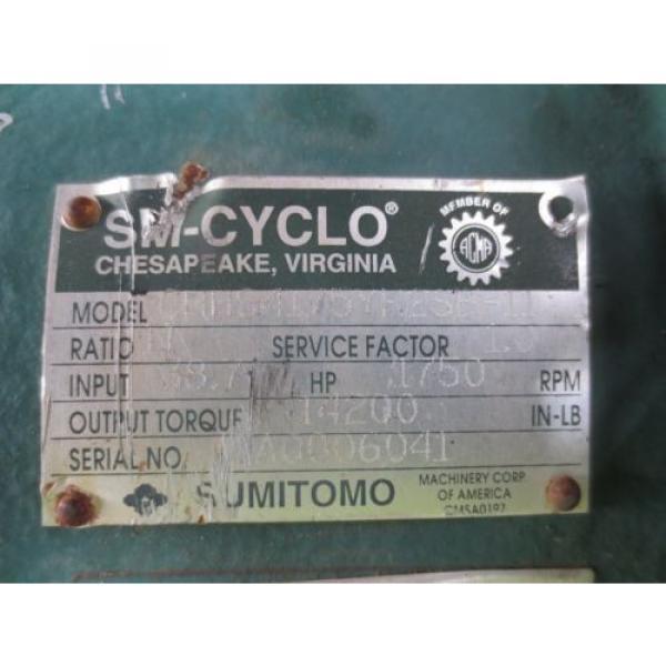 Sumitomo SM-Cyclo CHHS4175YR2SB-11 Speed Gear Reducer #6 image