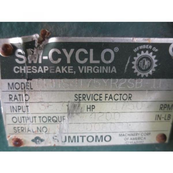 Sumitomo SM-Cyclo CHHS4175YR2SB-11 Speed Gear Reducer #7 image