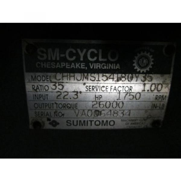 Sumitomo Gear CHHJMS154180Y35 223HP Ratio: 35 1750RPM Input Service Factor: 10 #4 image