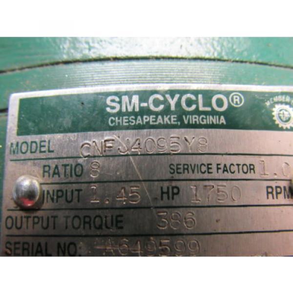 Sumitomo SM-Cyclo CNFJ-4095Y8 Inline Gear Reducer 8:1 Ratio 145 Hp #9 image