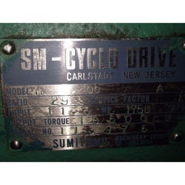 Sumitomo H56A SM-CYCLO Planetary Gear Drive/Gearbox/Speed Reducer #7 image