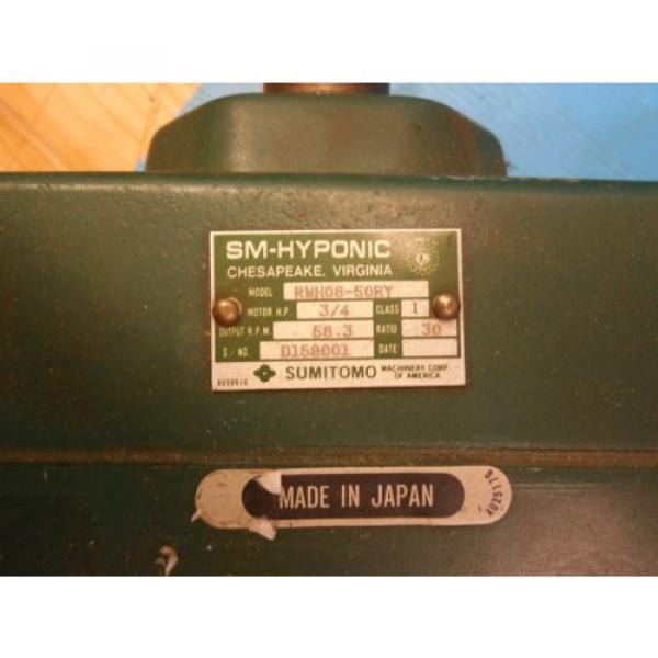 SUMITOMO RMH08-50RY AC GEAR MOTOR CLASS I MOTOR HP 3/4 RATIO 30 RPM 583 #2 image