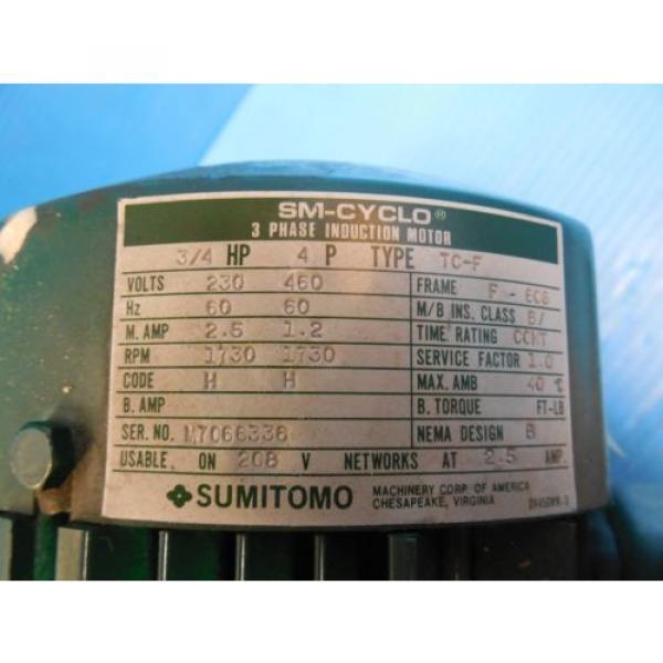 SUMITOMO RMH08-50RY AC GEAR MOTOR CLASS I MOTOR HP 3/4 RATIO 30 RPM 583 #3 image