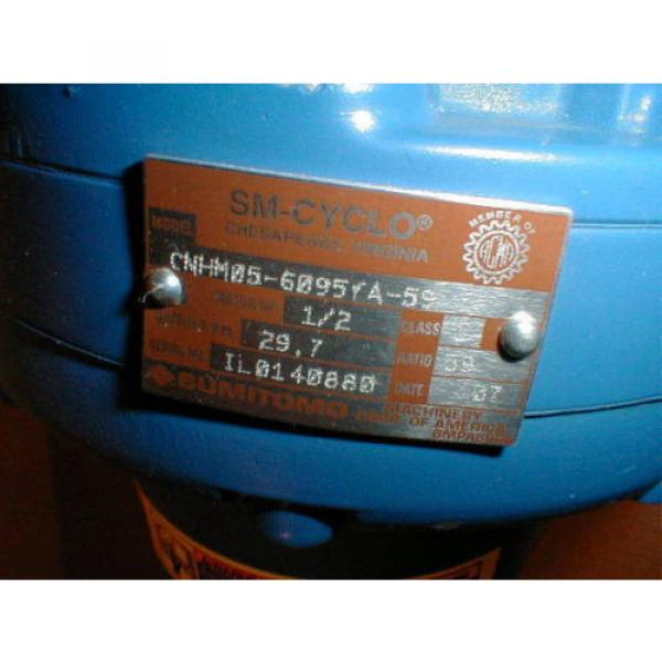 Sumitomo SM-CYCLO CNHM05-6095YA-59 Gear Reducer with TYPE TC-FX 1/2 HP Motor #4 image