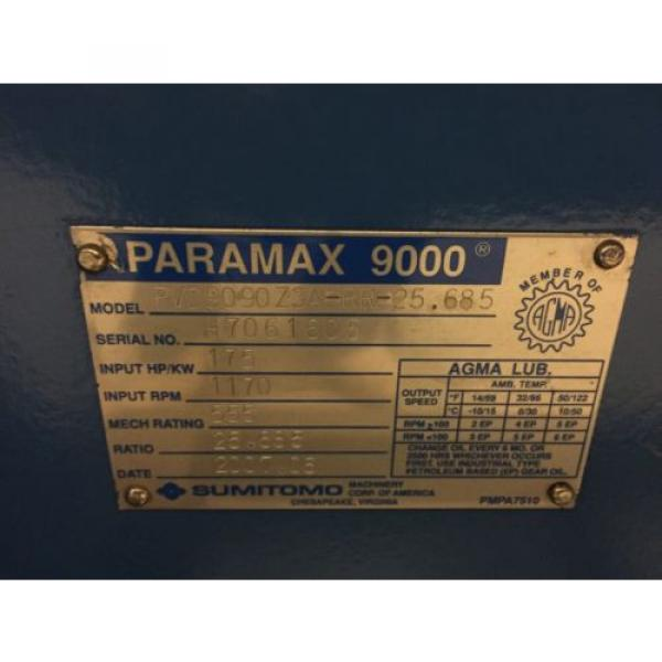 SUMITOMO PARAMAX PVD9090Z3A-RR-25685 SPEED REDUCER,GEAR BOX,GEAR REDUCTION #4 image