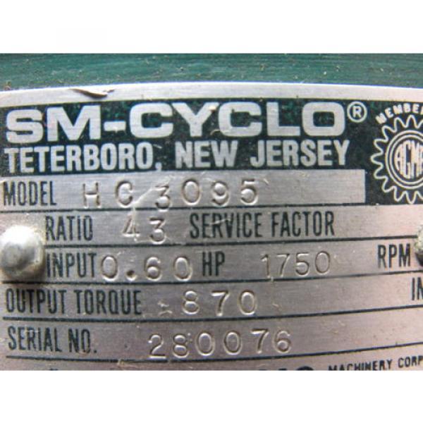 Sumitomo SM-Cyclo HC3095 Inline Gear Reducer 43:1 Ratio 060 Hp 1750RPM #9 image