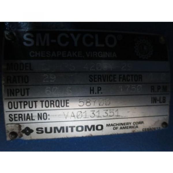 Sumitomo SM-Cyclo CHHPS4205Y-29 Gear Reducer #5 image