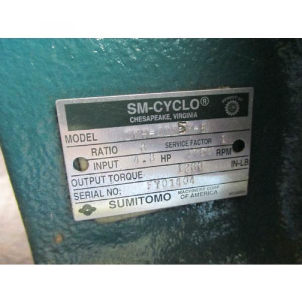 SM CYCLO SUMITOMO CNH 41154 8 SPEED REDUCER GEAR BOX MADE IN USA MOTOR #3 image