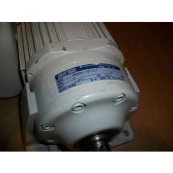 Sumitomo Cyclo Drive 3 Phase Gear Motor CNHM01-5075-6  1/8 HP  6 Ratio #3 image