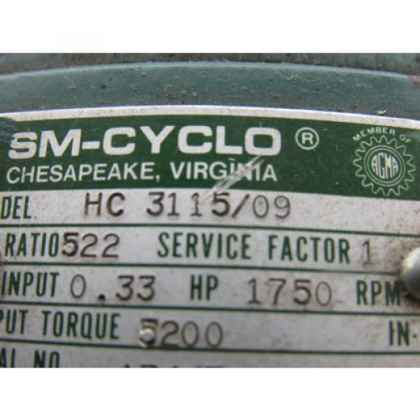 Sumitomo SM-Cyclo HC 3115/09 Inline Gear Reducer 522:1 Ratio 033 Hp #10 image