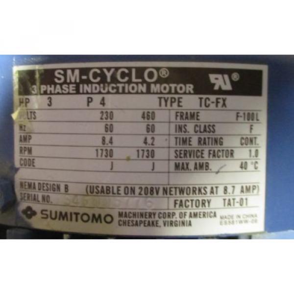 Sumitomo SM-Cycle TC-FX 3 HP EHYMS3-A4105YB-Y1-28 64 RPM Output, Gear Motor origin #3 image