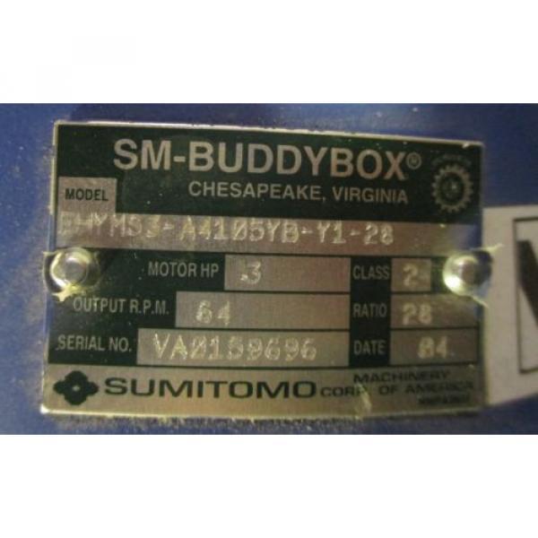 Sumitomo SM-Cycle TC-FX 3 HP EHYMS3-A4105YB-Y1-28 64 RPM Output, Gear Motor origin #4 image