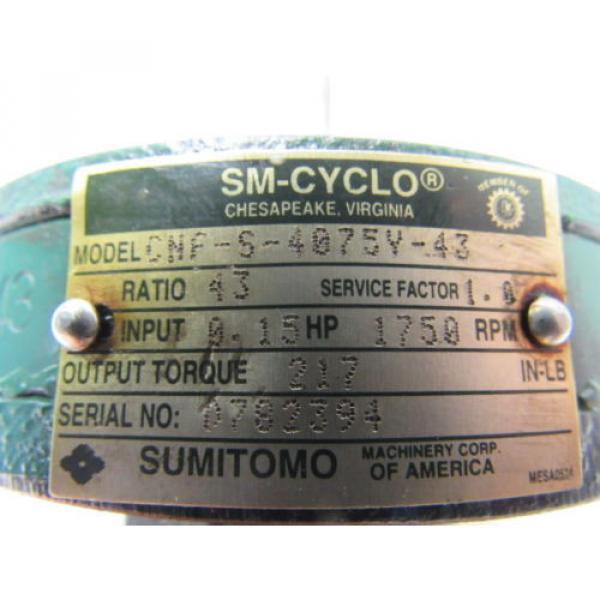 Sumitomo CNF-S-4075Y-43 SM-Cyclo Gear Reducer 43:1 Ratio 15HP 1750RPM #11 image