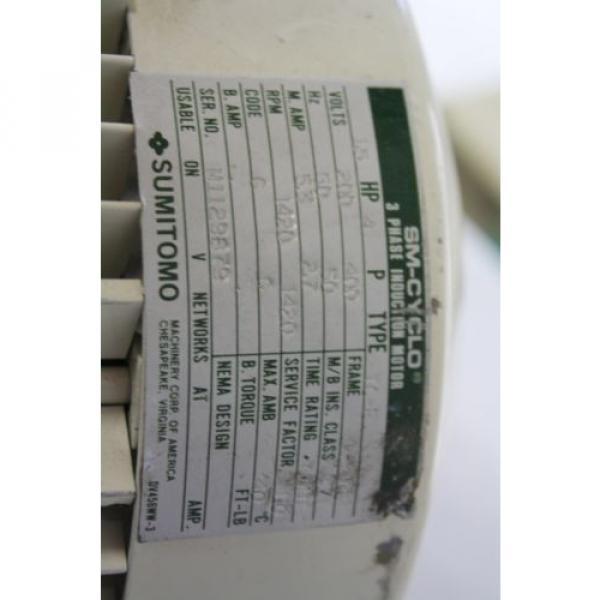 SUMITOMO SM-CYCLO CNVMS05-4105-A-AV-59 GEAR MOTOR 59:1 #3 image