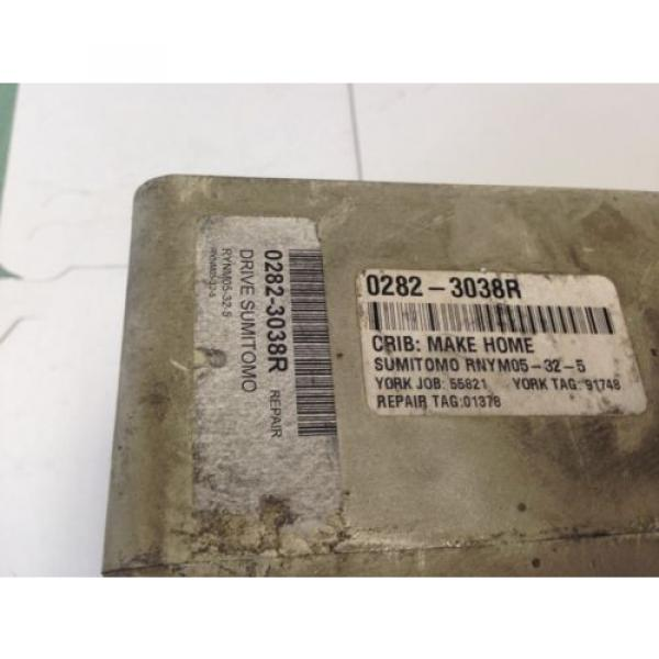 USED SUMITOMO RYNM05-32-5 GEAR REDUCER, 50:1-RATIO, 155821 410-RPM, 50Hz  CC #2 image