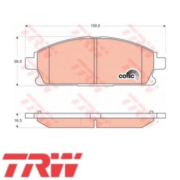 TRW Bremsbelagsatz Bremsbeläge Bremsklötze Vorn NISSAN GDB3293 #1 image