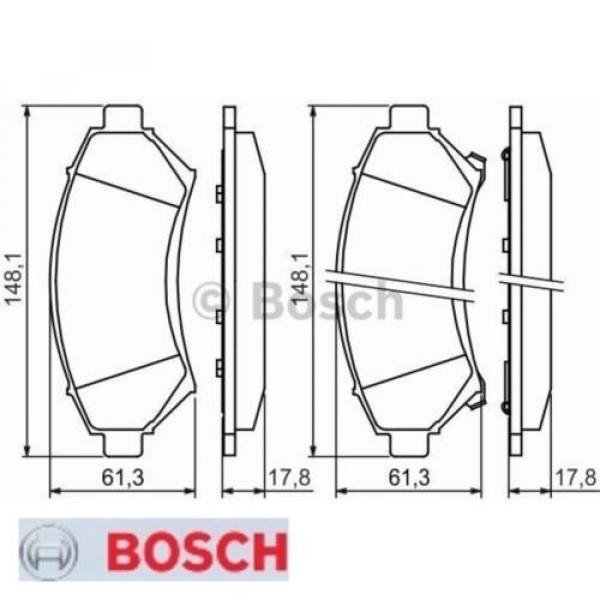 Bremsbelagsatz Bremsbeläge Bremsklötze BOSCH BP235 E190R-011075/1273 0986424466 #1 image
