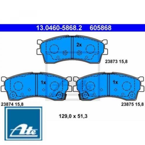 ATE Bremsbelagsatz Bremsbeläge Bremsklötze 605868 23873 23874 130460-58682 #1 image