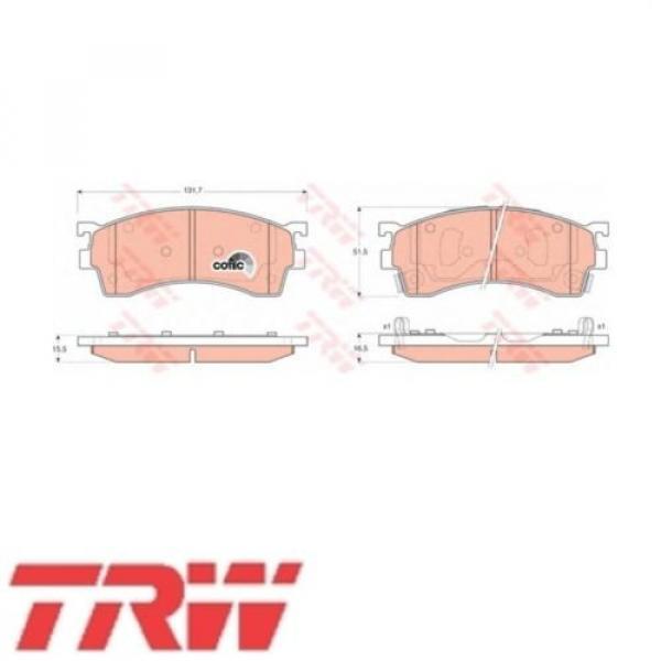 TRW Bremsbelagsatz Bremsbeläge Bremsklötze Vorn MAZDA 21754 GDB3209 #1 image