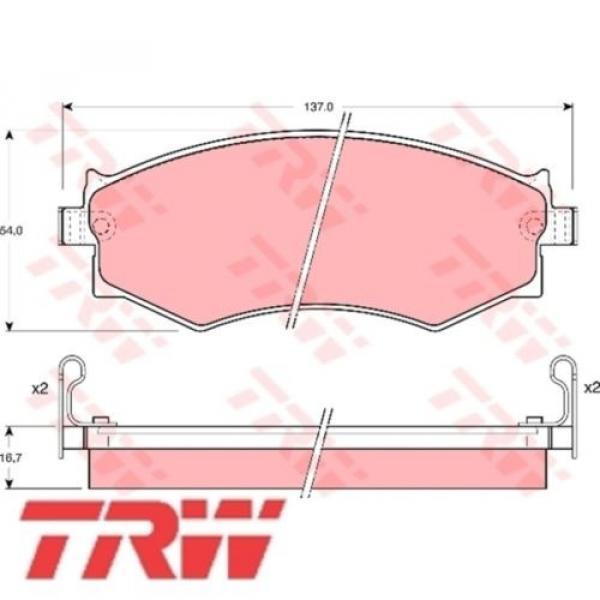 Bremsbelagsatz Bremsbeläge Bremsklötze TRW 21526 21527 21528 GDB1008 #1 image