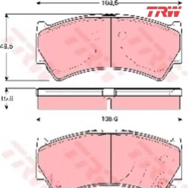 Bremsbelagsatz Bremsbeläge Bremsklötze TRW 23795 23796 23797 GDB3275 #1 image