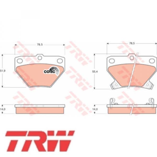 Bremsbelagsatz Bremsbeläge Bremsklötze TRW 23521 GDB3243 #1 image