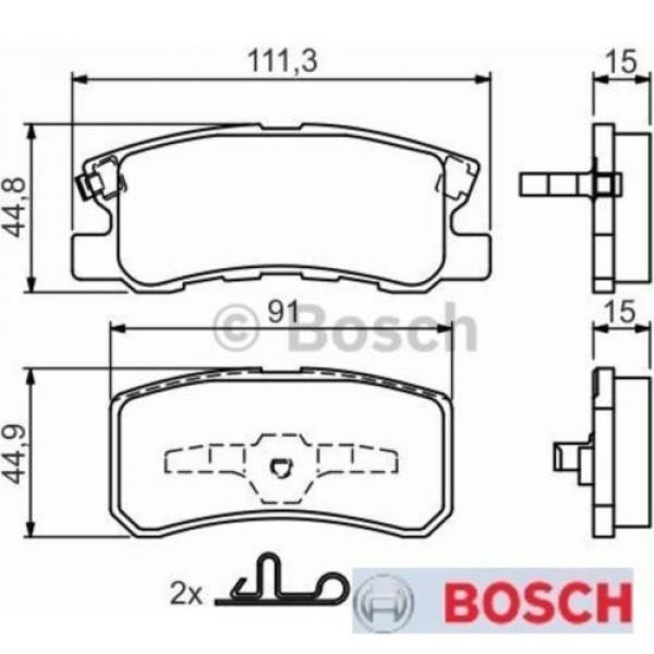 Bremsbelagsatz Bremsbeläge Bremsklötze BOSCH BP429 23582 7743D868 0986424717 #1 image