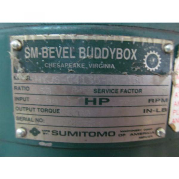 Sumitomo BBB KHYJS-C4135-K1-150 Gear Speed Reducer SM Bevel Buddy Box Gearbox #6 image