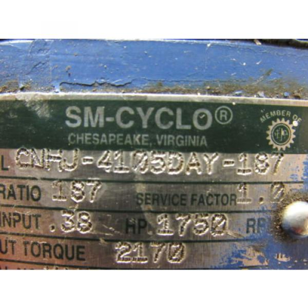 Sumitomo SM-Cyclo CNHJ-4105DAY-187 Inline Gear Reducer 167:1 Ratio 038 Hp #10 image