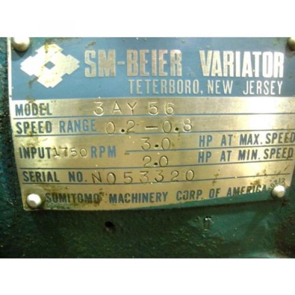 RX-194, SUMITOMO 3AY56 VARIATOR GEAR REDUCER 52000 IN-LB TORQUE 102 RATIO #11 image
