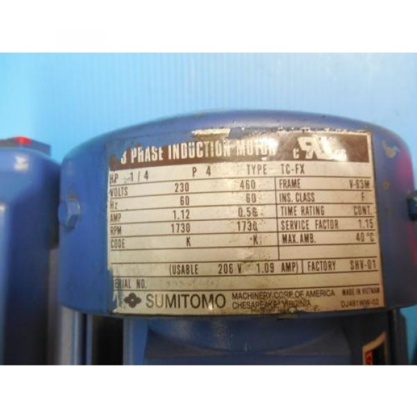 SUMITOMO CNHM02 6075C 11 INDUCTION MOTOR MADE IN USA INDUSTRIAL MOTORS #4 image