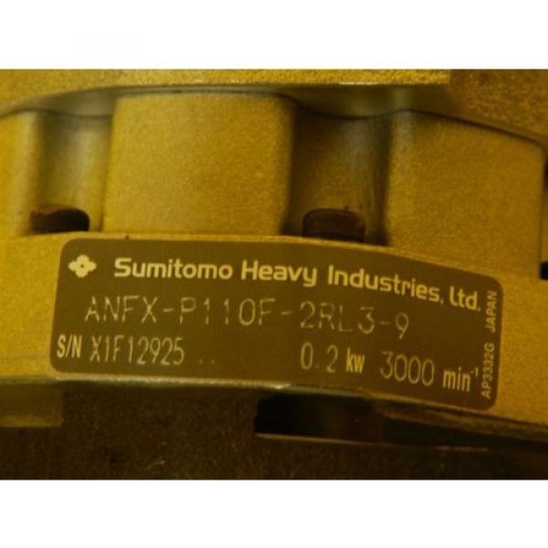 Sanyo Denki R2AA06020FXP77M AC Servo Motor Sumitomo ANFX-P110F-2RL3-9 Used #8 image