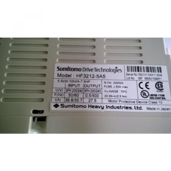 Sumitomo HF-320a Motor Driver Inverters, HF3212-5A5, 55kW-10kVA-75HP #7 image