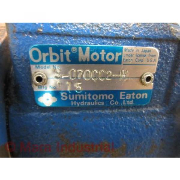 Sumitomo Eaton S-070CC2-H S070CC2H Orbit Motor 115 - Used #3 image