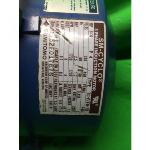SM-CYCLO TC-F/FB-1B 3-PHASE INDUCTION MOTOR SUMITOMO CNHM-08-4095YA-B-21 #3 image