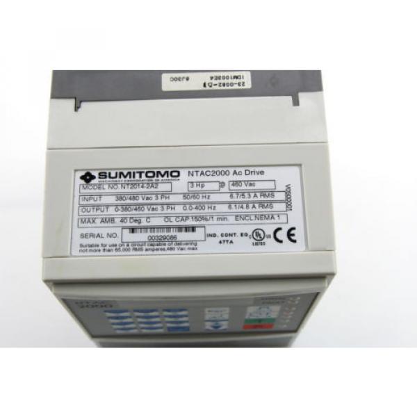 Sumitomo NTAC2000 AC Motor Drive 380-480Vac  NT2014-2A2 3Ph #3 image